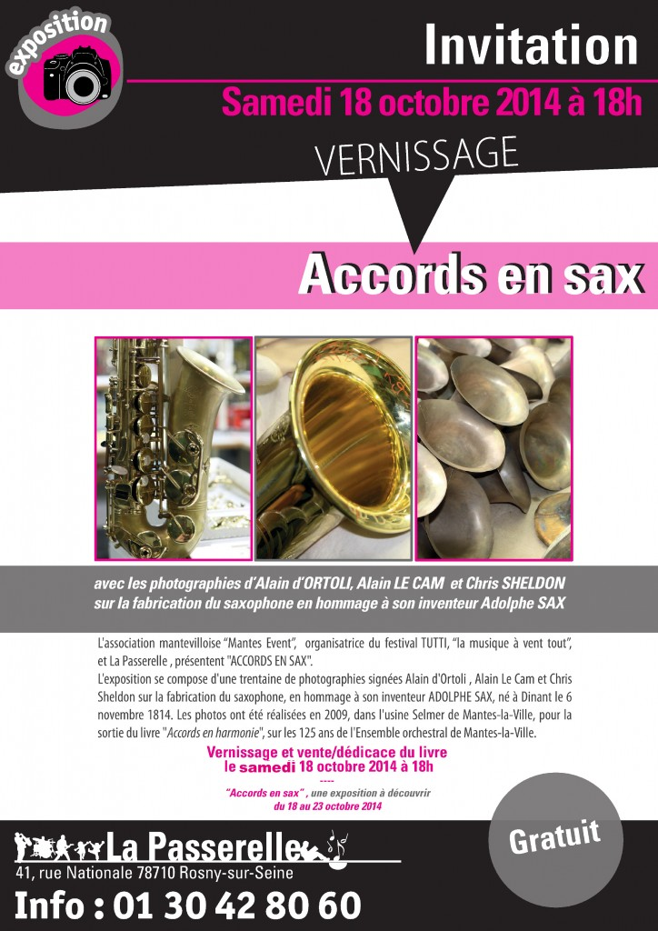 Exposition 200 ans Adolphe Sax